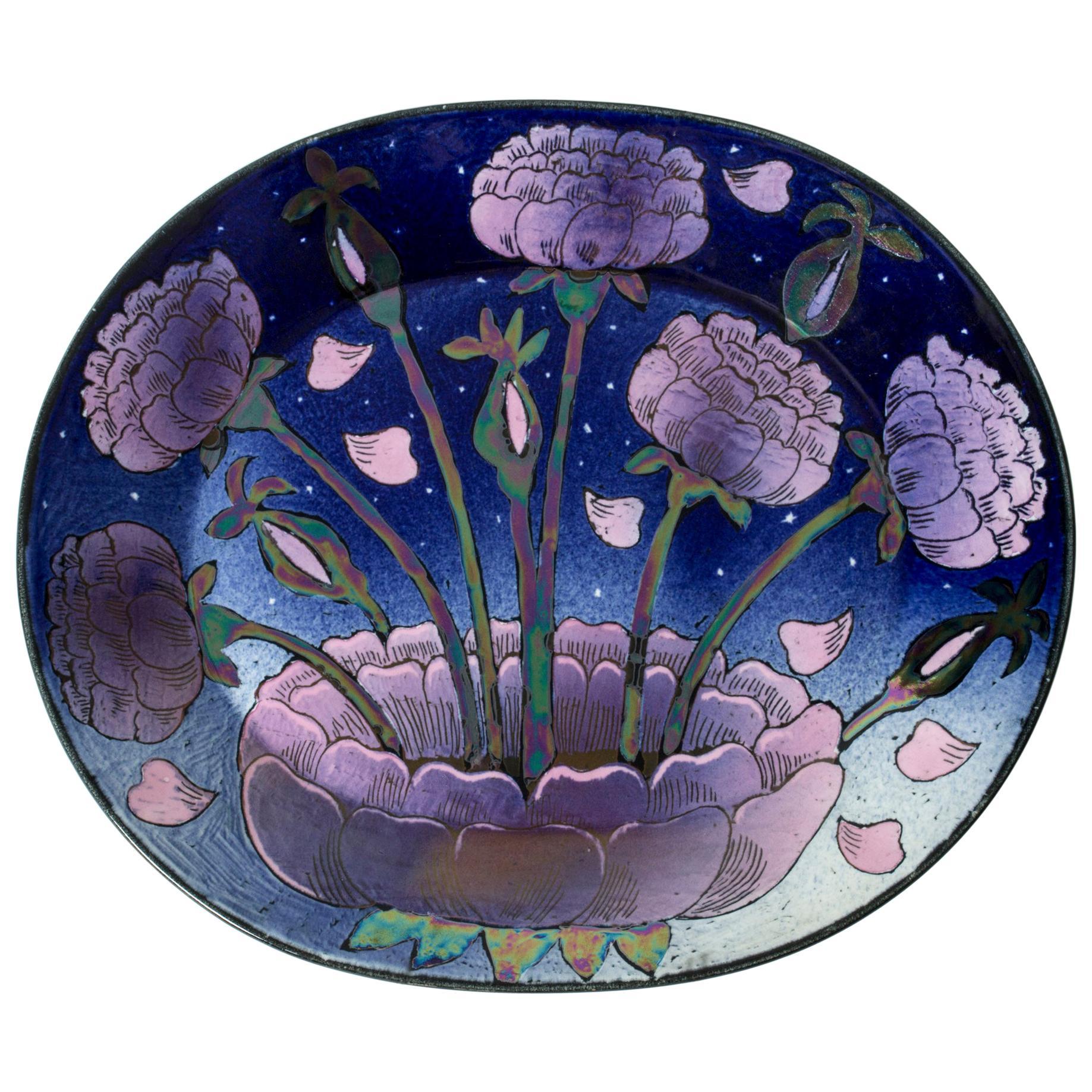 Stoneware Platter by Birger Kaipiainen for Arabia, Finland, 1960s