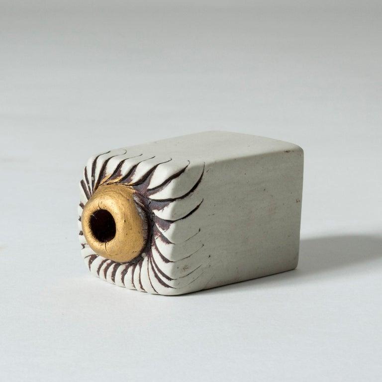 Scandinavian Modern Stoneware Sculpture by Bengt Berglund for Gustavsberg, Sweden, 1960s For Sale