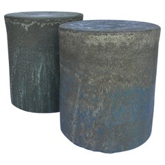 Stoneware Side Table Set of 2 Pieces