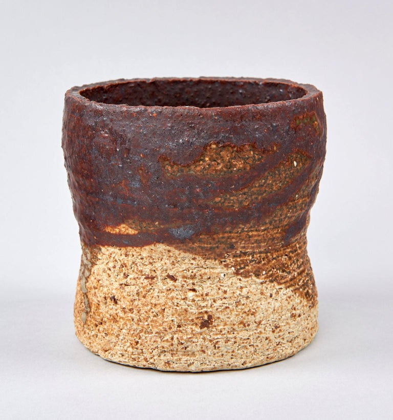 Scandinavian Modern Stoneware Studio Vase by Annikki Hovisaari For Sale