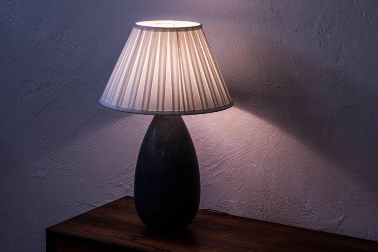 Stoneware Table Lamp by Carl Harry Stålhane, Sweden, 1950s For Sale 3