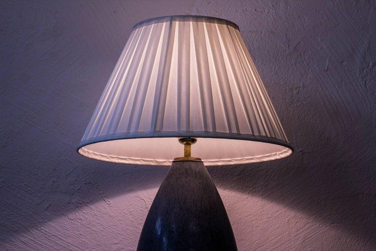Stoneware Table Lamp by Carl Harry Stålhane, Sweden, 1950s For Sale 4