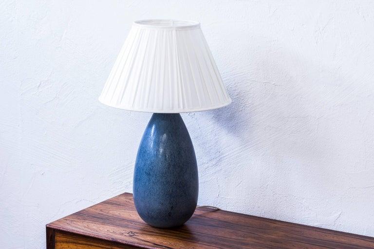 Scandinavian Modern Stoneware Table Lamp by Carl Harry Stålhane, Sweden, 1950s For Sale