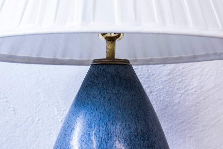 Swedish Stoneware Table Lamp by Carl Harry Stålhane, Sweden, 1950s For Sale