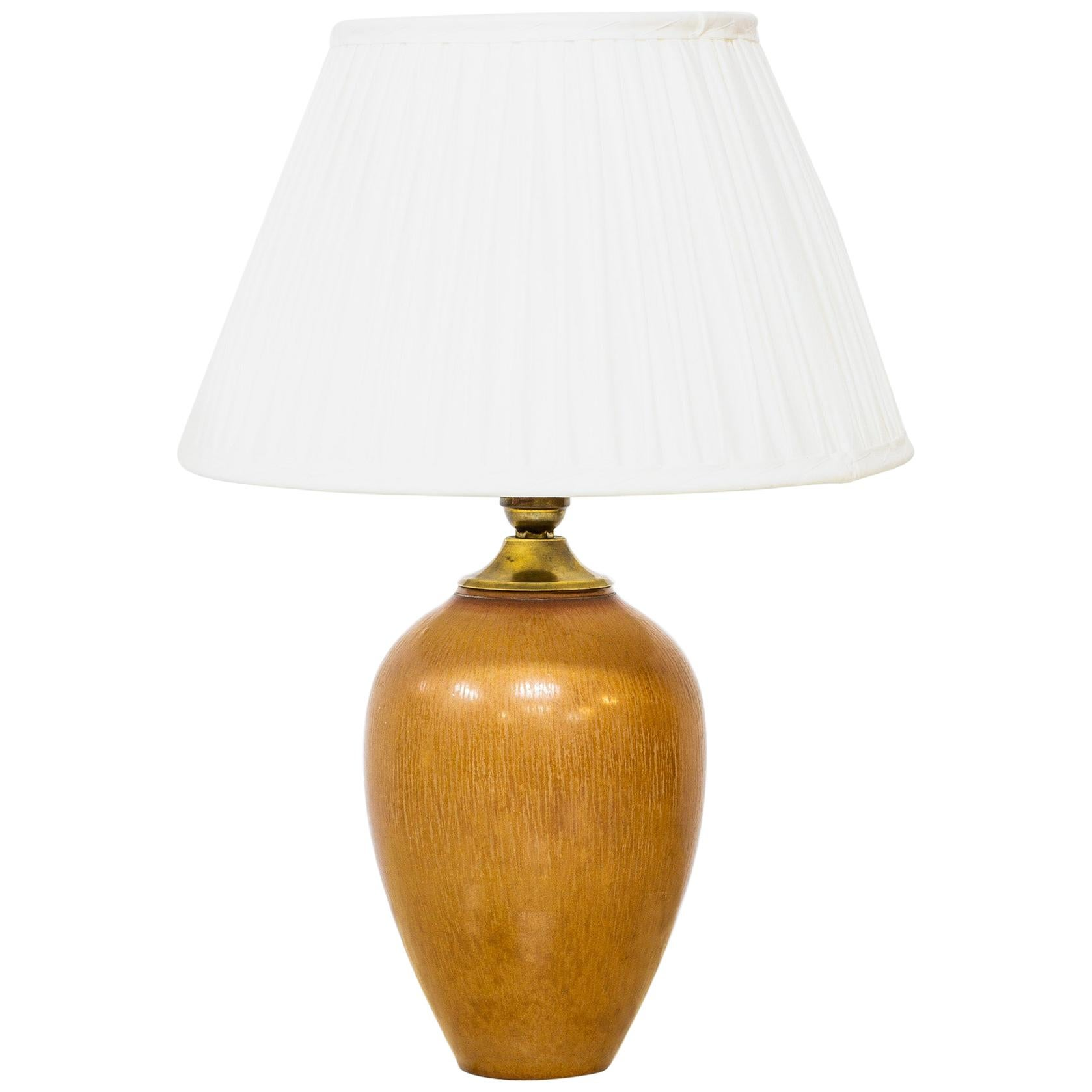 Stoneware Table Lamp by Gunnar Nylund for Rörstrand, Sweden, 1950s