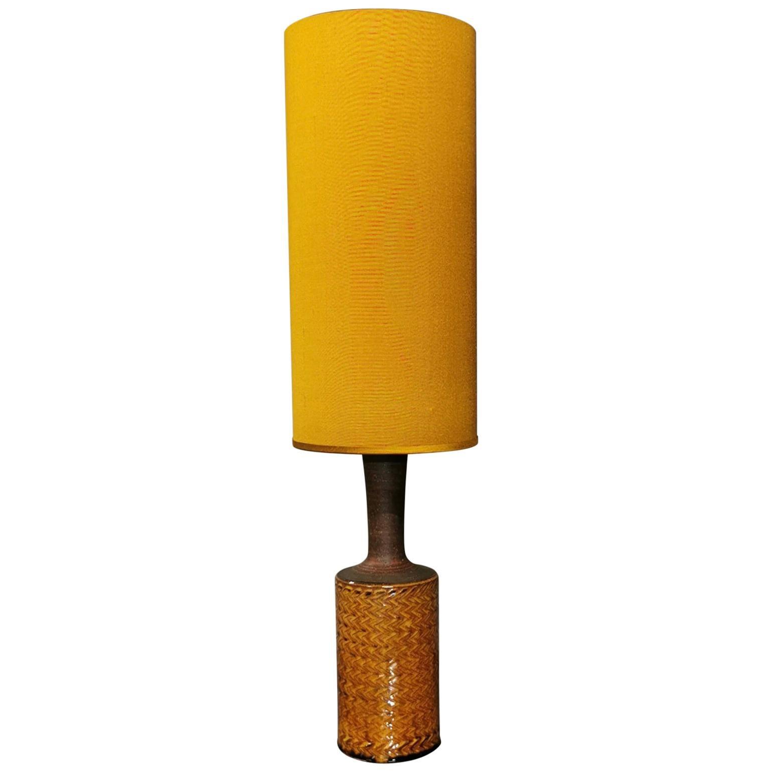 Stoneware Table Lamp by Nils Kähler, Denmark, 1960s