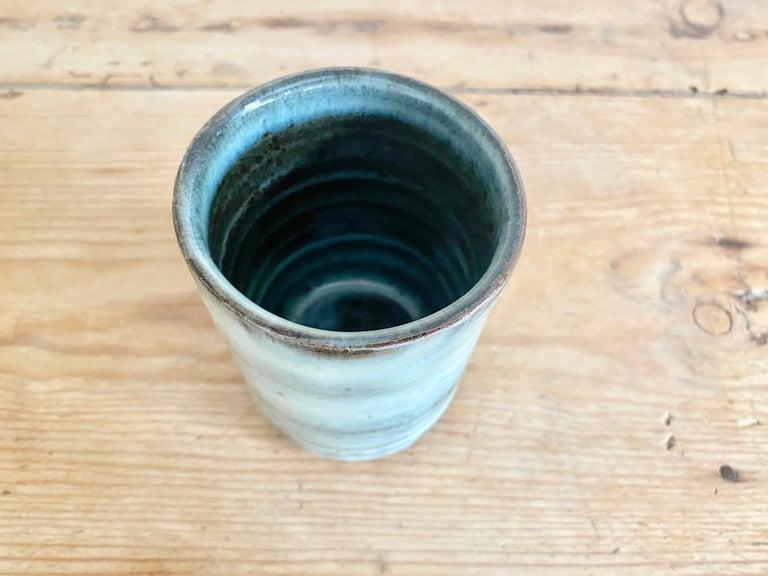 Scandinavian Modern Stoneware Teacup with Nuka Glaze by Mats Svensson For Sale