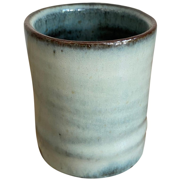 Stoneware Teacup with Nuka Glaze by Mats Svensson For Sale