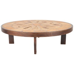 Stoneware Tile Top Coffee Table by Roger Capron