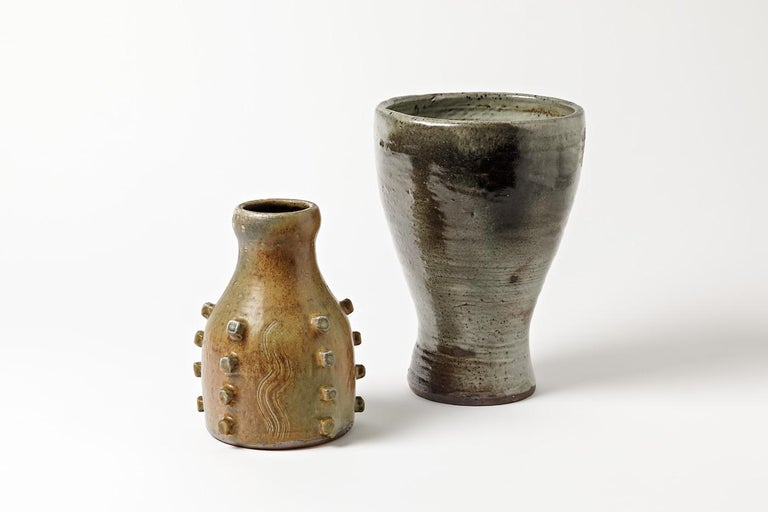 Stoneware Vase by Jeanne & Norbert Pierlot to Ratilly, circa 1970 For Sale 1