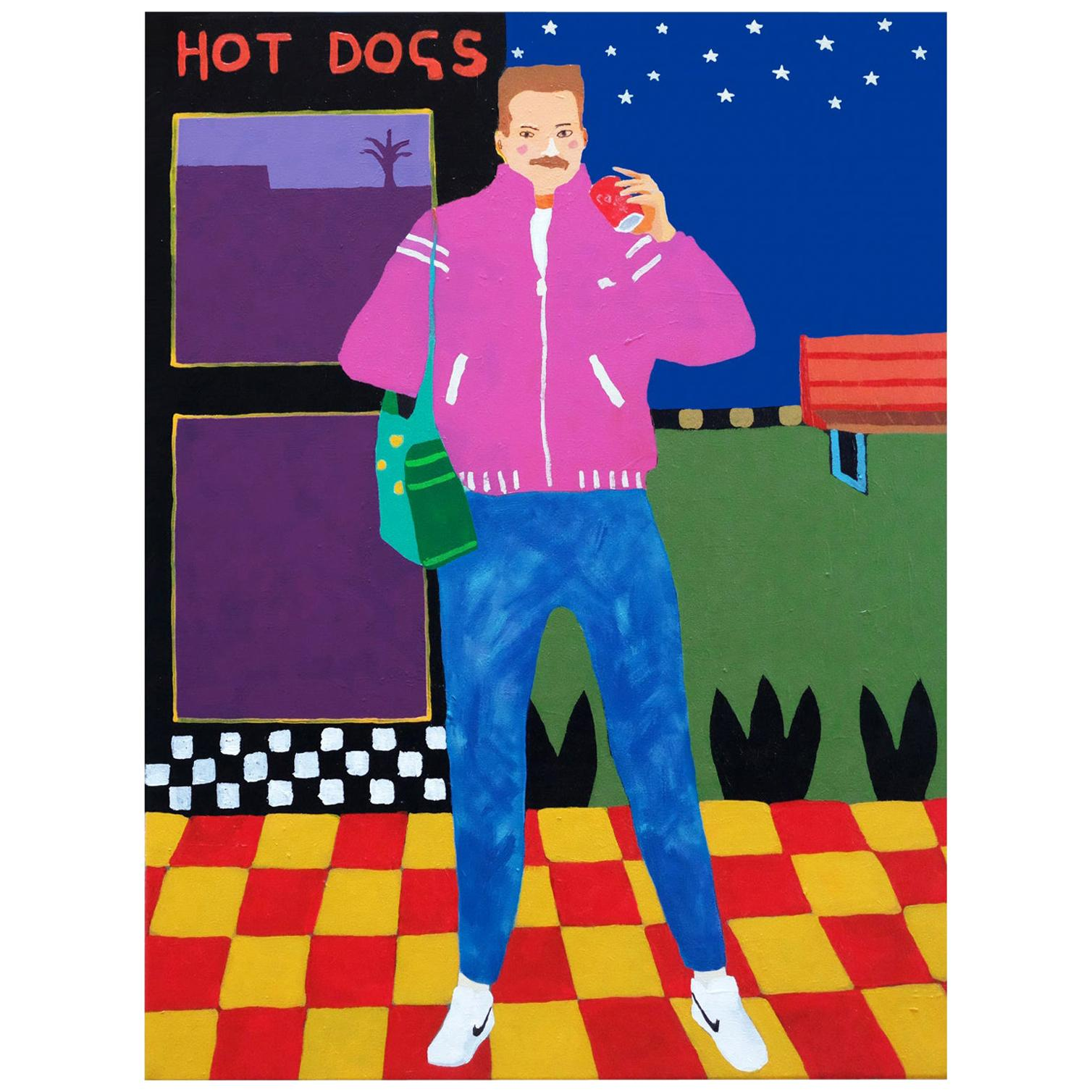 'Stonewashed Dreams' Portrait Painting by Alan Fears Pop Art