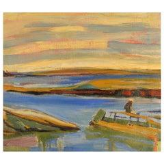 """Stonington, Maine"" Painting by Janet Sullivan Turner, Oil on Canvas"