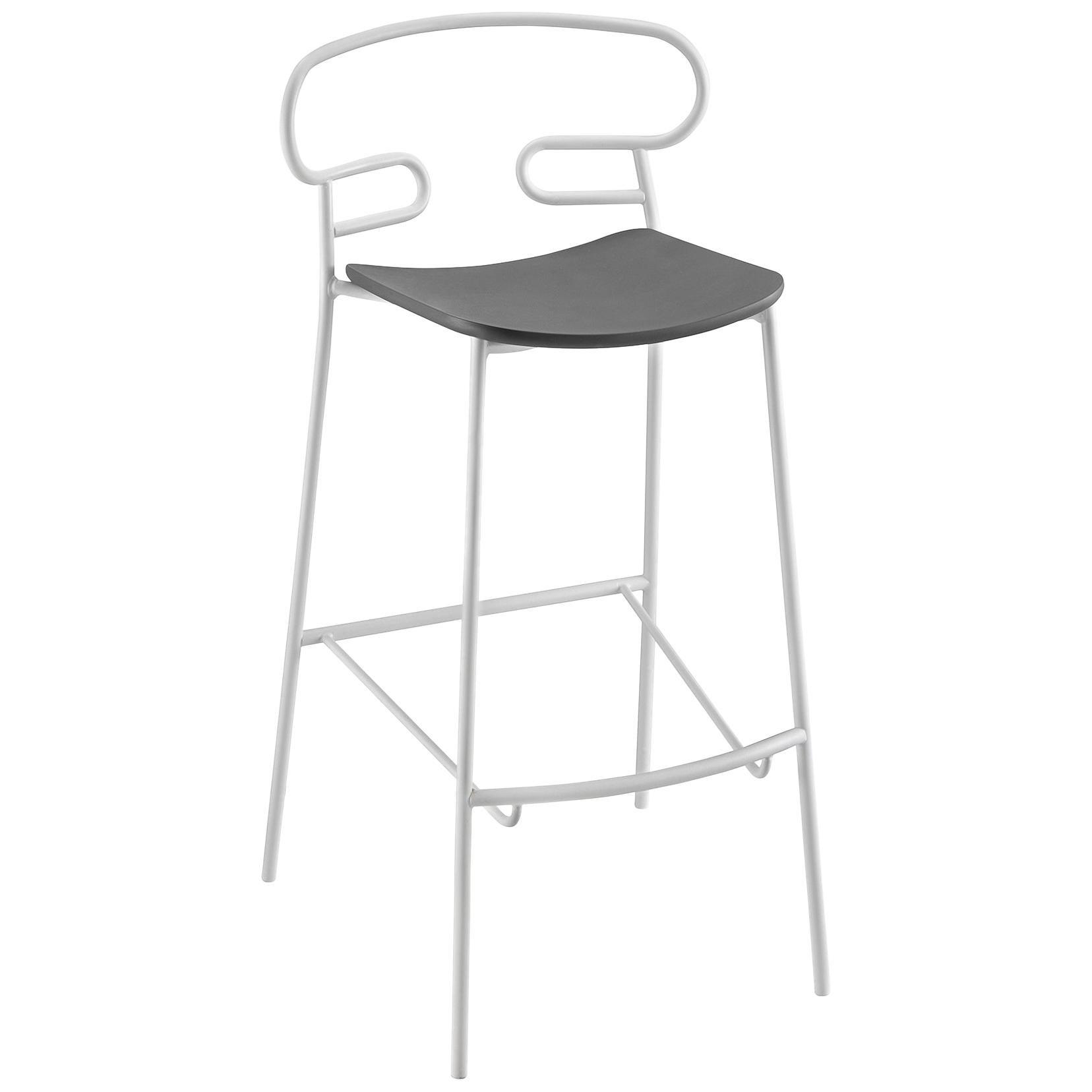 Stool Art, Genoa 0049 Metal Frame Varnishe and Polyurethane Seat Colors