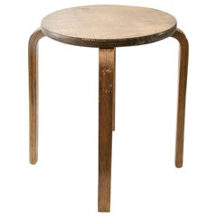 Stool Atributed to Alvar Aalto, in Wood, Finland circa 1960, for Artek, Brown