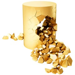 Stool, Bullet Pouf, Gold-Plated Customizable by Janne Kyttanen