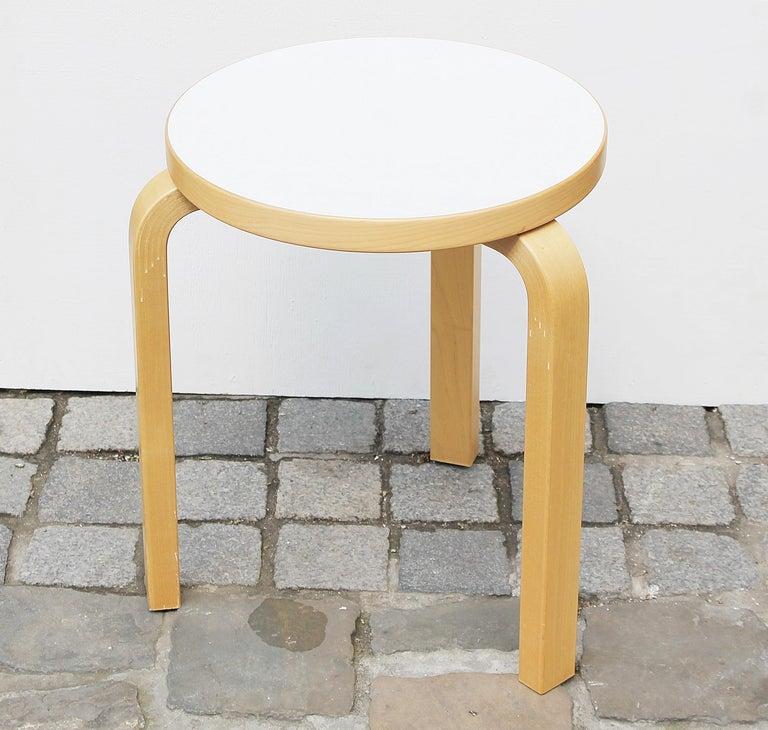 Finnish Stool by Alvar Aalto for Artek, 2007 For Sale