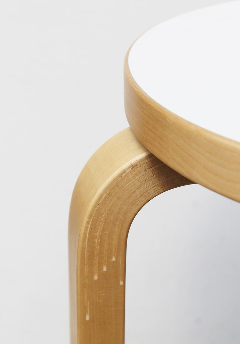 Stool by Alvar Aalto for Artek, 2007 In Good Condition For Sale In Brussels, BE