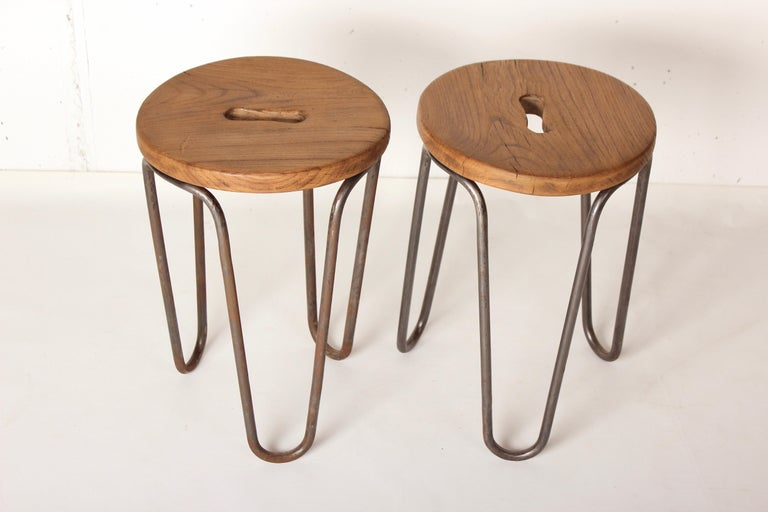 French Stool by Cesar Janello for Raoul Guys Aa Éditions, 1947 For Sale