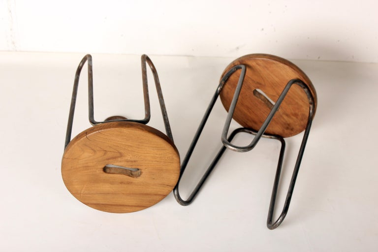 Stool by Cesar Janello for Raoul Guys Aa Éditions, 1947 In Good Condition For Sale In Santa Gertrudis, Baleares