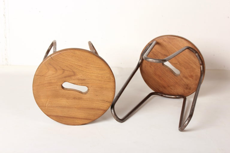 Mid-20th Century Stool by Cesar Janello for Raoul Guys Aa Éditions, 1947 For Sale