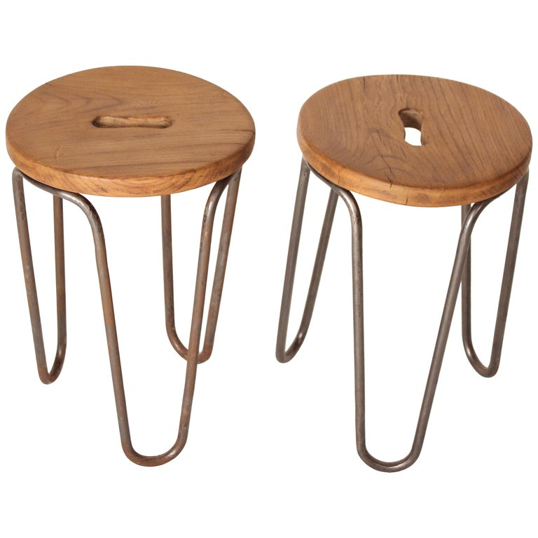 Stool by Cesar Janello for Raoul Guys Aa Éditions, 1947 For Sale 1