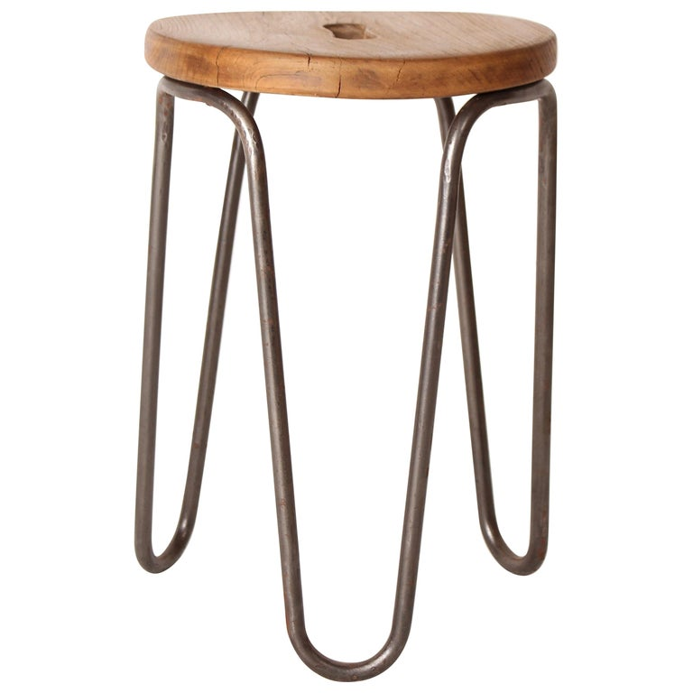 Stool by Cesar Janello for Raoul Guys Aa Éditions, 1947 For Sale