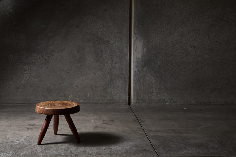 Stool by Charlotte Perriand In Distressed Condition For Sale In Los Angeles, CA