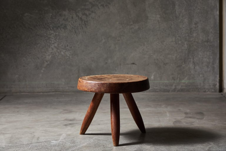 Wood Stool by Charlotte Perriand For Sale
