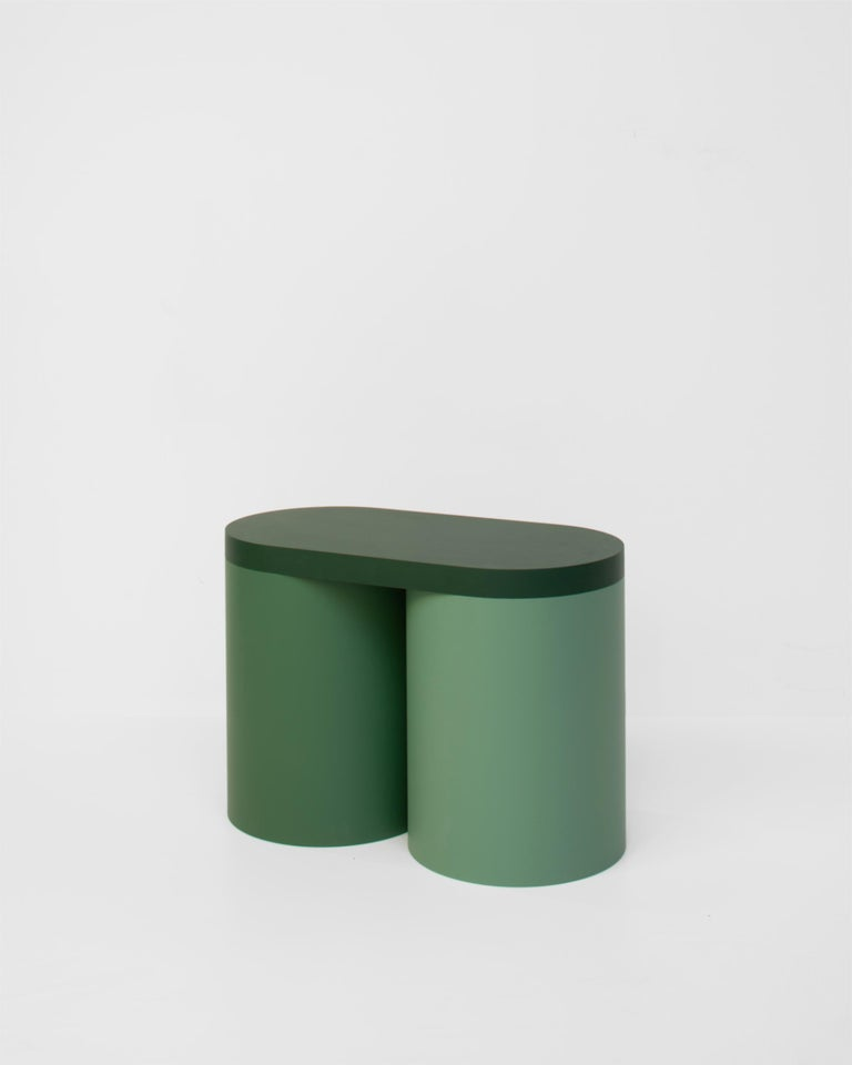 Painted Stool Colorful Design Modern Contemporary Seating Rounded Shapes Form Stool 2 For Sale