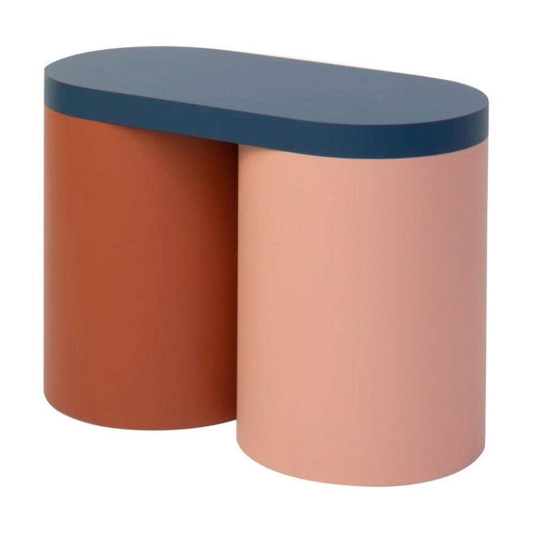 Stool Colorful Design Modern Contemporary Seating Rounded Shapes Form Stool 2 For Sale