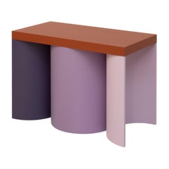 Stool Colorful Design Modern Contemporary Seating Rounded Shapes Form Stool 3