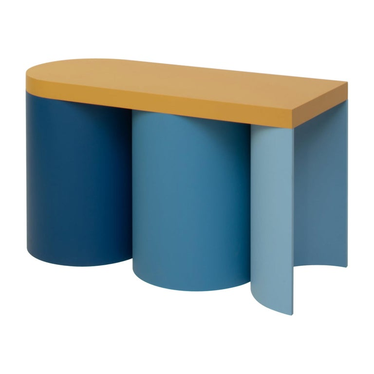 Stool Colorful Design Modern Contemporary Seating Rounded Shapes Form Stool 4 For Sale