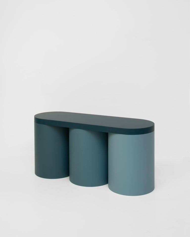 Colorful stool with a contemporary design. 