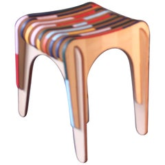"Stool ""In leather we trust"" by Markus Friedrich Staab"