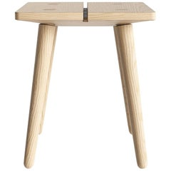Swiss Stool in Natural Solid European Ash