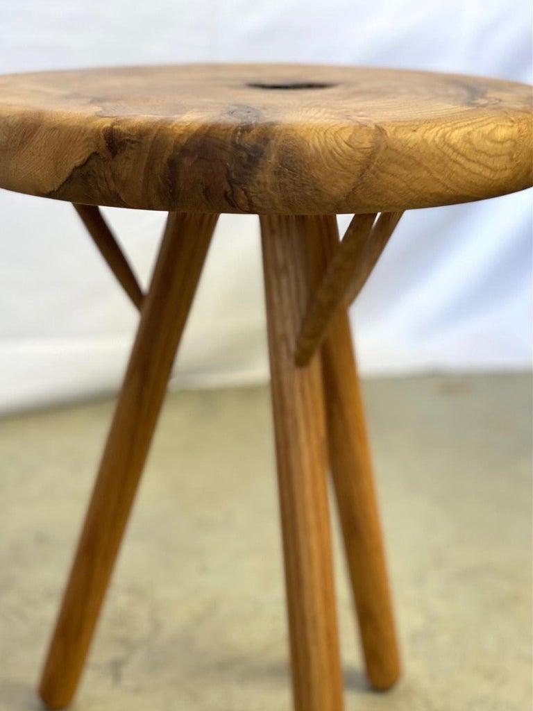 Stool in White Oak Burl by Michael Rozell, USA, 2021 In New Condition For Sale In Berlin, DE