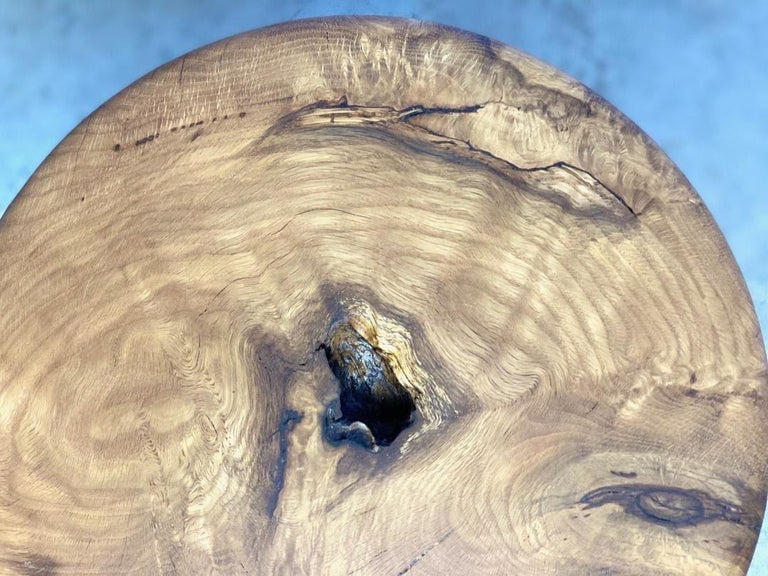 Stool in White Oak Burl by Michael Rozell, USA, 2021 For Sale 1