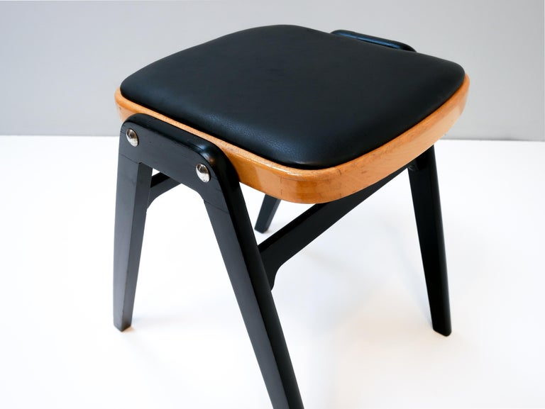 Stool made in Sweden, 1950s.