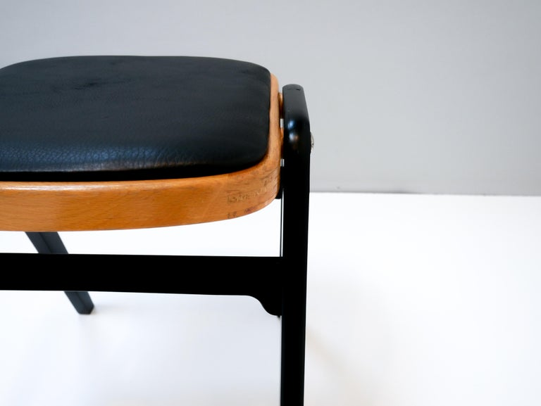 Mid-Century Modern Stool Made in Sweden, 1950s For Sale