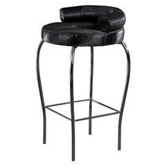 Stool Marilen, Fabric, Bar Furniture, Italy