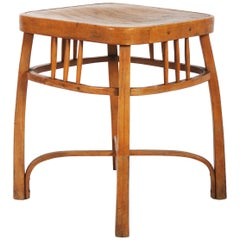 Stool Model 616 / S, designed by Otto Wagner for Jacob & Josef Kohn