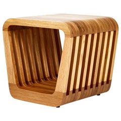 Stool or Bedside Table by Reda Amalou, 2016, Red or White Lacquer, Walnut or Oak
