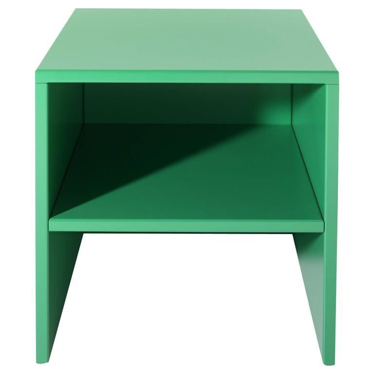 Powder-Coated Stool or Table by Donald Judd For Sale