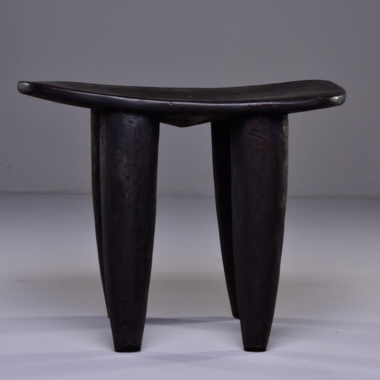 Stool or Table Hand Carved by Senufo People of Ivory Coast In Good Condition In Troy, MI