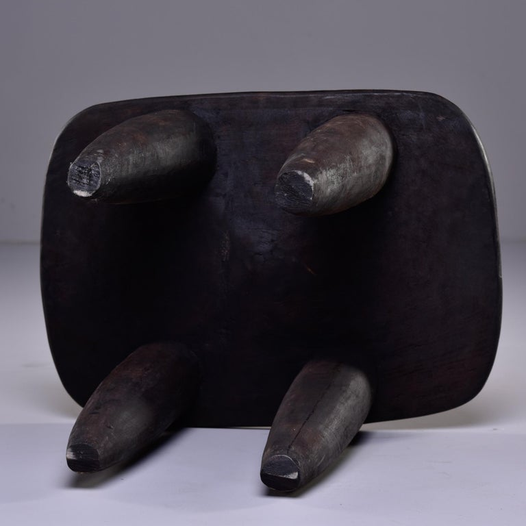 Wood Stool or Table Hand Carved by Senufo People of Ivory Coast