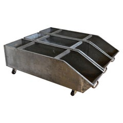 Storage Bins on Wheels from Wonder Bread Bakery, Industrial Steel, Set of 3