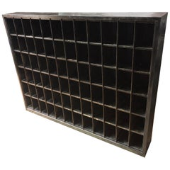 Storage Cabinet of Painted Steel as Wine Rack, DVD, CD Storage, 72 Cubbies