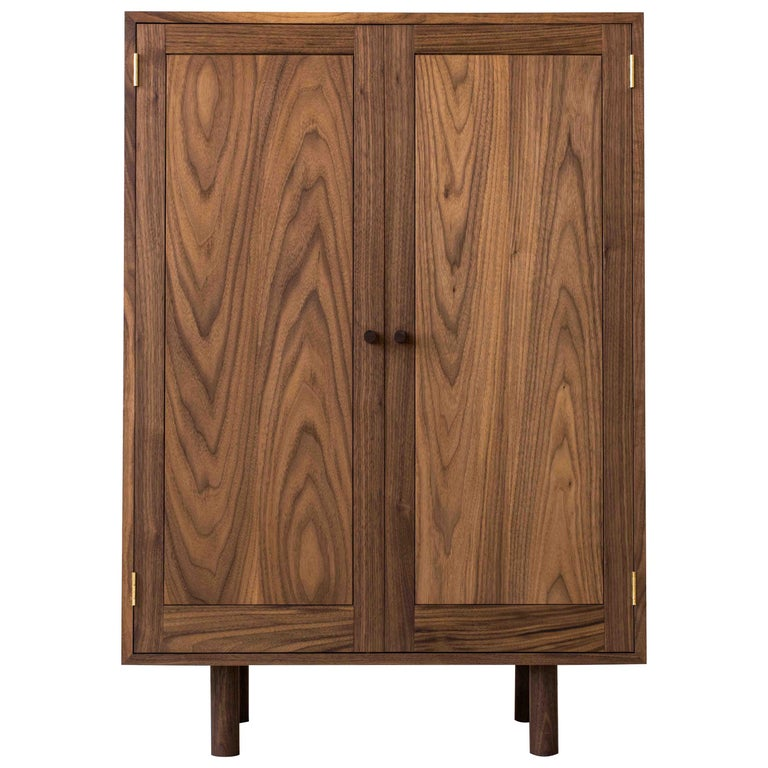 Storage Cupboard One by Campagna, Contemporary Wooden Cabinet with Shelves For Sale
