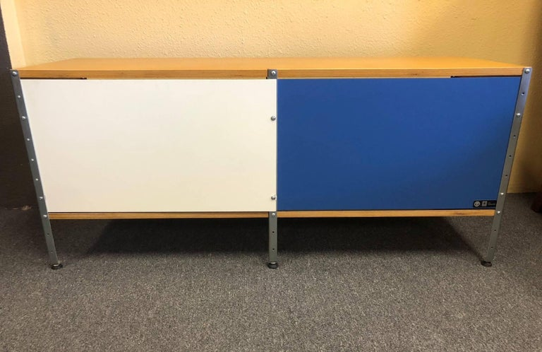 American Storage Unit 100 2x1 Bookcase Designed by Charles & Ray Eames for Herman Miller For Sale