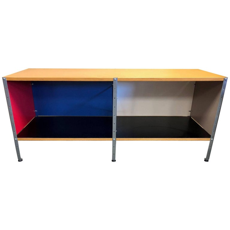 Storage Unit 100 2x1 Bookcase Designed by Charles & Ray Eames for Herman Miller For Sale